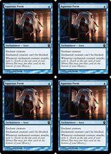 4x AQUEOUS FORM Theros MTG Blue Enchantment — Aura Com
