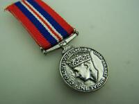 Miniature 1939-1945 George VI medal with ribbon                         1890