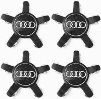 4 x 135mm Audi Schwarz Felgendeckel Nabenkappen Allufelgen Black Alloy Wheel Cap