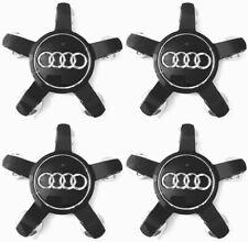 4 x 135mm Schwarz Felgendeckel Nabenkappen Allufelgen Alloy Radnabe für Audi Neu