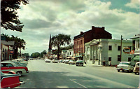 Vintage 1950's Main Street View Williamsville New York Old Cars Rexall Postcard