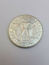 1 Crown 1991 Excellent Condition Coin Olympic Gibraltar