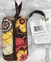"""NWT Vera Bradley Coin and Key Zip up Case Buttercup Print 3 x 5.5"""""""