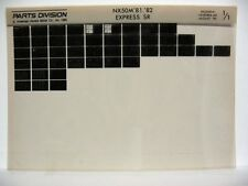 Honda NX50M Express 1981 1982 Parts List Catalog Microfiche a691