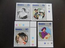 (4) mnh Jamaica stamps off paper Scott # 599-602-1985 Queen mother85 TH birthday