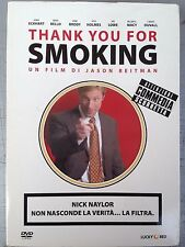DVD • Thank you fro Smoking Aaron Eckhart SLIPCASE COMMEDIA SCORRETTA ITALIANO