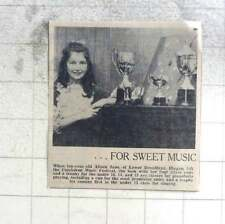 1974 10-year-old Alison Jane Of Illogan Sweet Piano Playing