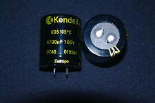 Kendeil 4700uF 100V Condensatore elettrolitico alluminio Snap-in 105°C