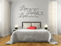 Live Laugh Love Wall Quote Wall Sticker Vinyl Wall Art Home Decal Vinyl