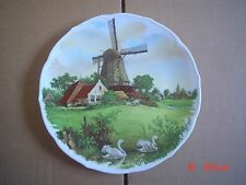 Large ROYAL SCHWABAP MADE IN ENTER HOLLAND WINDMILL SWANS