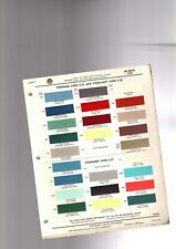 1957 DeSOTO Color Chip Paint Sample Brochure / Chart: PPG, FireFlite,S-26,S-25