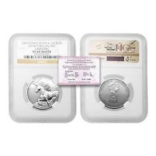 Tokelau 2014 Unicorn $5 1 oz Silver NGC PF69 Matte with COA