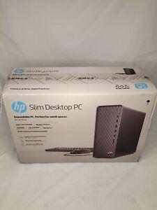 NEW HP SLIM DESKTOP INTEL 3.4GHz 4GB COMPUTER 1TB 7200RPM HD DVDRW S01-PF1013W