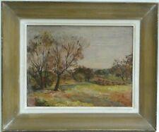 Ancien tableau huile paysage de Provence fauviste Les Alpilles à attrib