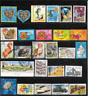 FRANCE 2001.LOT DE 42 TIMBRES GOMMES CACHETS RONDS TOUS DIFFERENTS