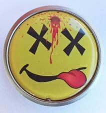 Yellow And Red Belt Buckle New Round Dead Happy Face Shot