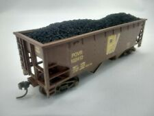HO Scale 36' 2-Bay Hopper w/ Coal Load - POVR - Pend Oreille Valley - CHOOSE!