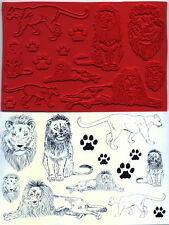 unmounted rubber stamps LION collection  10 images