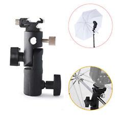 for DSLR Type E Flash Hot Shoe Umbrella Holder Swivel Bracket Mount Light Stand