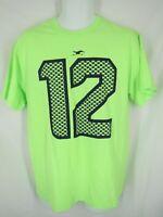 New Seattle Seahawks Fan #12 Mens Sizes S/M/XL/2XL Bright Green Shirt MSRP $23