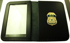 Homeland Security Investigation Special Agent Mini Badge Leather ID Wallet