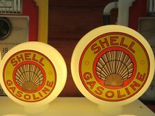 SHELL Roxanna Gas Pump Globes Gasoline Selection Glass Petrol Pump Globes