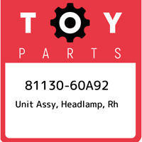 81130-60A92 Toyota Unit assy, headlamp, rh 8113060A92, New Genuine OEM Part