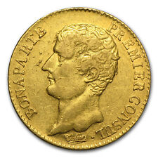 AN12-A France Gold 20 Francs Bonaparte Premier Consul Avg Circ - SKU#55792