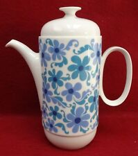 THOMAS (Rosenthal) china BLUE FLOWER pattern COFFEE POT with LID