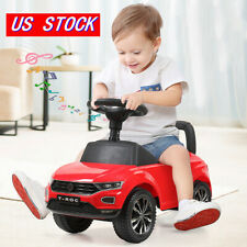 Riding Red Toy Baby Toddler Kids Ride On Push Car Foot To Floor Stroller w/ Horn