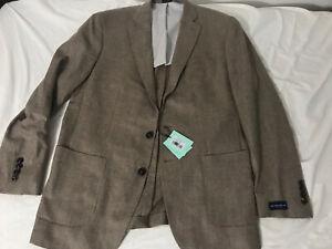 Peter Millar Winter Excursionist Wool/Cashmere Blazer 42R Herringbone $998 Nwt