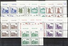 1990, Freimarken (MiNr. 3344/52) in postfr. 4er-Blocks