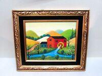 Jonas Bradford Original Oil Painting Grandma Moses Old Mill Amish Folk Art