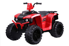 Twin Motor Quad Bike - Red - 12V Kids' Electric Toy Ride On