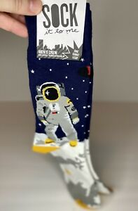 SOCK It To Me Men's Crew Socks Astronaut NASA One Giant Leap New With Tag