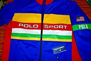NWT $228 RALPH LAUREN POLO SPORT XXL USA Flag Men's Full Zip Windbreaker Jacket