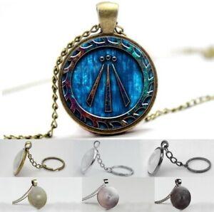 Druid Symbol Awen - Photo Glass Dome Necklace, Pendant, Keyring
