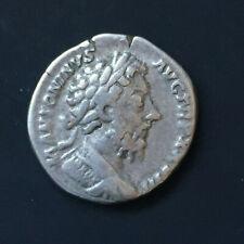 Roman Empire - Ar denarius - Marcus Aurelius - Victory holding throphy & wreatch