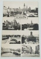 Glasgow Vintage Postcard Black White Queen Elizabeth 4 cent stamp