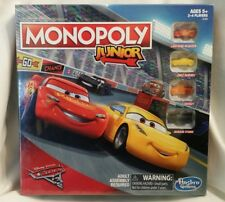 NEW Cars 3 Monopoly Junior Board Game - Parker Brothers - Hasbro - Disney Pixar