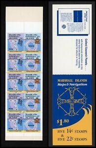 Marshall Islands Scott #42b MNH BOOKLET of 5x14c 5x22c Island Maps CV$8+ ISH-1