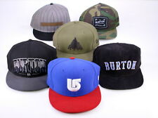 * Lot of 6 Burton Hats * Fitted Trucker New Era Baseball Caps OSFA