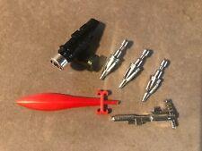 Transformers G1 Vintage Original Dinobot Slag Complete Weapons Set