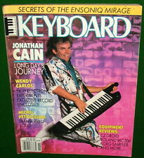 Program Ensoniq Mirage, Roland MC-500 Rev'w Jonathan Cain 1986 Keyboard Magazine