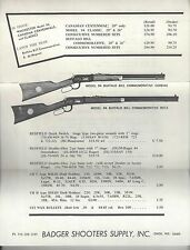Badger Shooters Supply Price List - 1968