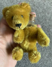 "BEAUTIFUL ANTIQUE MINIATURE 5"" Cinnamon Golden Brown MOHAIR SCHUCO PERFUME BEAR"