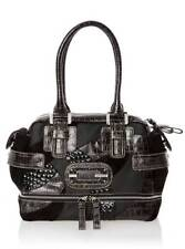 ICON SQUARE SATCHEL Handbag With Two long Handles For Women's, Black