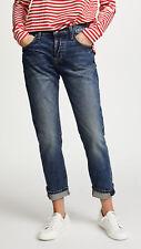 Current Elliott Womens 27 Medium Wash The Selvedge Taper Jeans Color Hemet