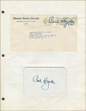CARL HAYDEN - SIGNATURE(S)