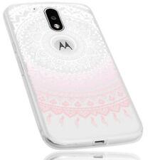 mumbi Hülle f. Motorola Moto G4 / G4 Plus Schutzhülle Mandala Case transp. rosa